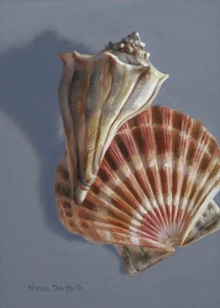 """Two Seashells"" original fine art by Nance Danforth"