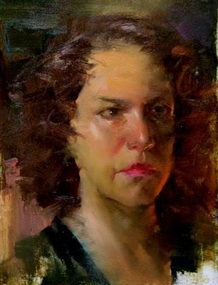 """Portrait Demo 2"" original fine art by Fongwei Liu"