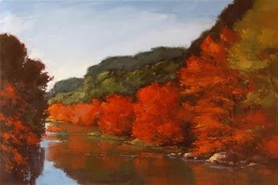 """Canyon Ablaze"" original fine art by Laurel Daniel"