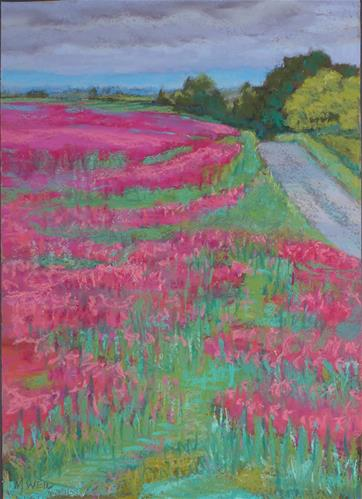 """Oregon Red Clover"" original fine art by Mary Weil"