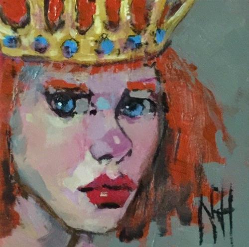 """Pouty Queen"" original fine art by Nancy  Rhodes Harper"
