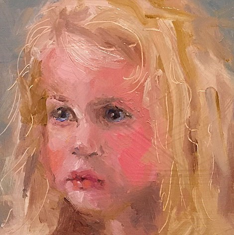 """""""She Talks to Angels"""" original fine art by Marcia Hodges"""