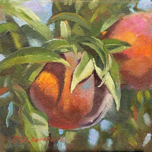 """""""Mary's Peaches"""" original fine art by Connie McLennan"""