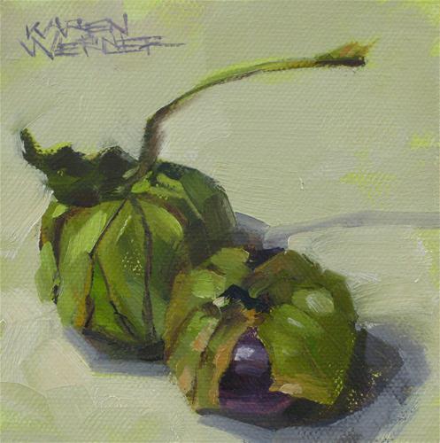 """Dos Tomatillos"" original fine art by Karen Werner"