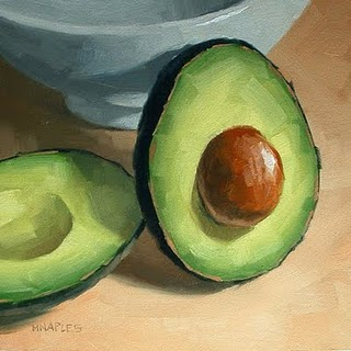 """Leaning Avocado"" original fine art by Michael Naples"