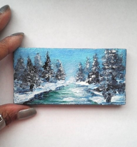 """Snowy Landscape"" original fine art by Camille Morgan"