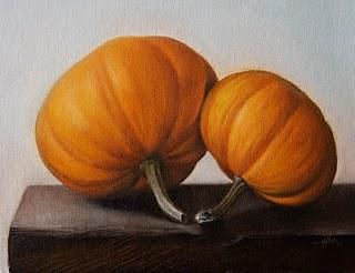 """""""Pumpkins"""" original fine art by Jonathan Aller"""