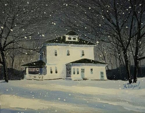 """Kevin Scout's Farmhouse"" original fine art by Steve Gibson"