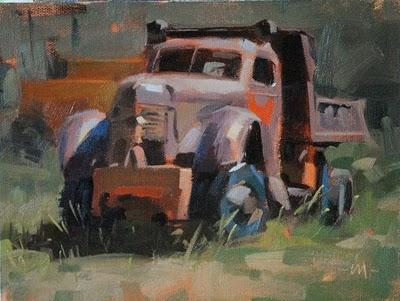"""""""Used'a Work"""" original fine art by Carol Marine"""