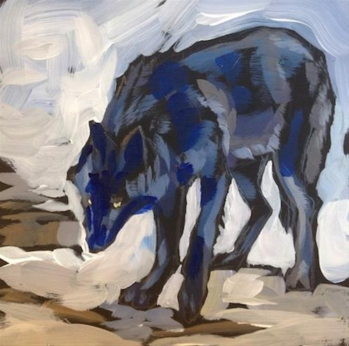 """Winter Black"" original fine art by Kat Corrigan"