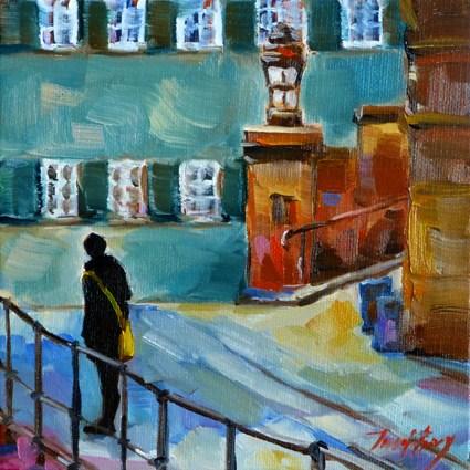 """""""Tübingen, Altstadt"""" original fine art by Jurij Frey"""