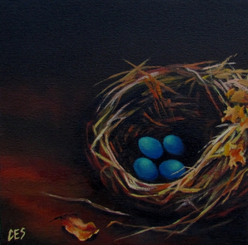 """Robin's Nest"" original fine art by ~ces~ Christine E. S. Code"