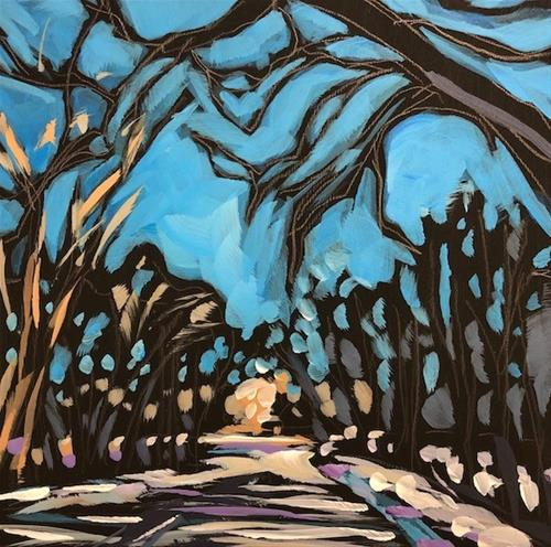 """Tree Arch, Fort Snelling"" original fine art by Kat Corrigan"