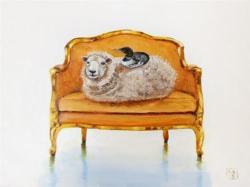 """loony over ewe"" original fine art by Kimberly Applegate"
