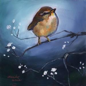 """Bird in Spring"" original fine art by Mariko Irie"