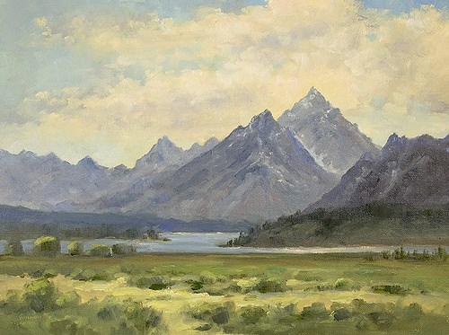 """""""The Teton From Willow Flats"""" original fine art by Bonnie Bowne"""