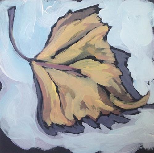 """Yellow Leaf"" original fine art by Kat Corrigan"