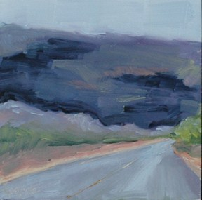 """ROAD TO BIG BEND"" original fine art by Linda Popple"