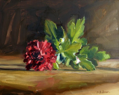 """Oil painting of a mum"" original fine art by Deb Anderson"