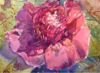 """#6/30 in 30 - Campus Camellia #2"" original fine art by Lyn Gill"