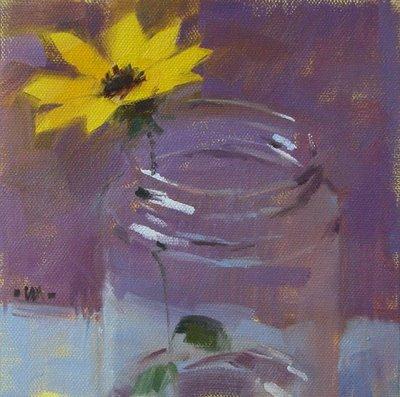 """""""Mason Jar"""" original fine art by Carol Marine"""