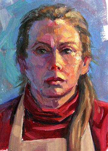 """Me, 2011"" original fine art by Lesley Spanos"
