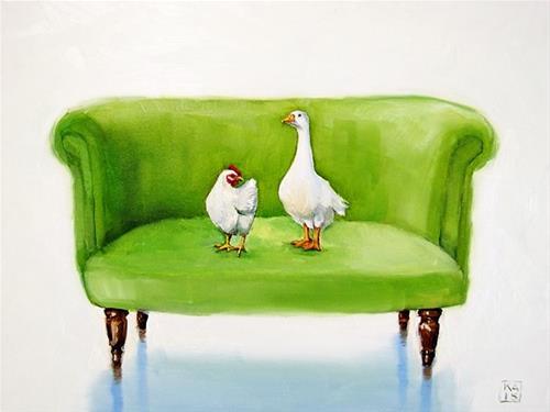 """neighbors"" original fine art by Kimberly Applegate"