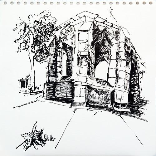 """""""2610 Nikolai-Ruine Steintor"""" original fine art by Dietmar Stiller"""