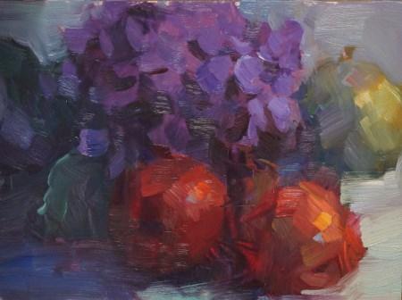 """Purple Hydrangea #2"" original fine art by Carol Myer"