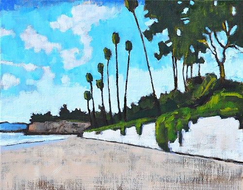 """Butterfly Beach Painting Santa Barbara"" original fine art by Kevin Inman"