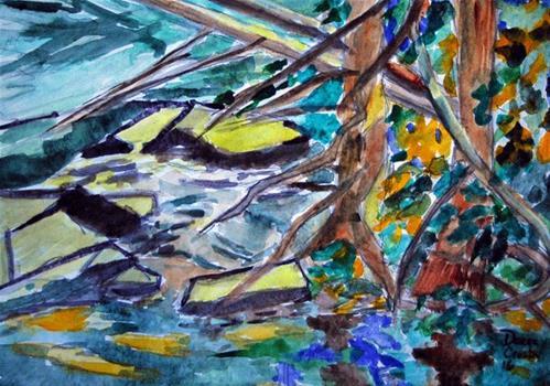 """Good Drain System 2"" original fine art by Donna Crosby"