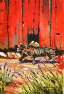 """Moose, the Barn Cat"" original fine art by JoAnne Perez Robinson"