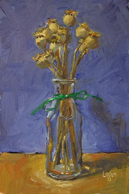 """Poppy Pods"" original fine art by Raymond Logan"
