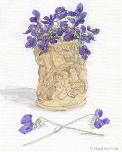 """""""Sow flower seeds for still life painting and honey bees"""" original fine art by Maud Guilfoyle"""