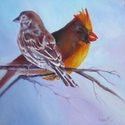 """""""I've Got Your Back, by Linda McCoy"""" original fine art by Linda McCoy"""