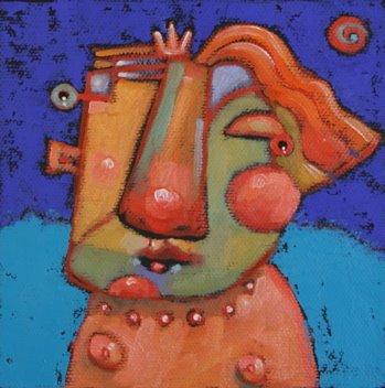 """""""Mildred Prefers To Skinny Dip"""" original fine art by Brenda York"""