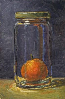 """Tangerine Under Glass"" original fine art by Raymond Logan"