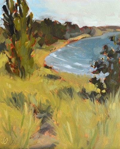 """On the Bluff"" original fine art by Jessica Green"