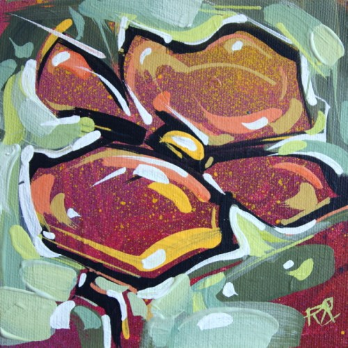 """""""Flower Abstraction 155"""" original fine art by Roger Akesson"""