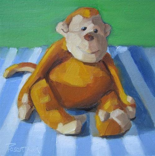 """Monkey Fun"" original fine art by Robin Rosenthal"