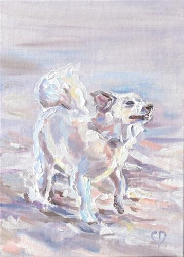 """Ivory Surf and Sand"" original fine art by Carol DeMumbrum"