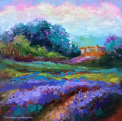 """""""Lavender at First Sight and Italy in June 2017"""" original fine art by Nancy Medina"""
