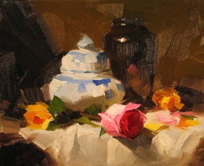 """Demo at Magnolia 2 --- Sold"" original fine art by Qiang Huang"