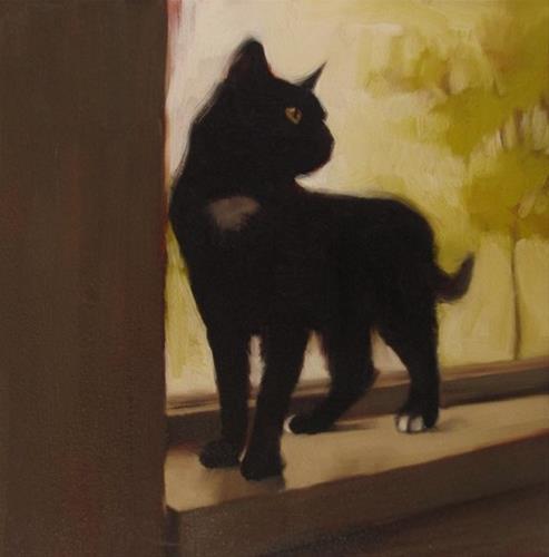 """Condo Cat"" original fine art by Diane Hoeptner"
