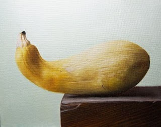 """Yellow Squash"" original fine art by Jonathan Aller"