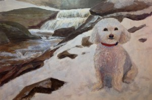 """Rondo by the Waterfall"" original fine art by Jamie Williams Grossman"