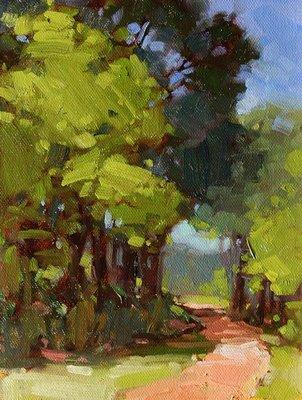 """""""Shady Path"""" original fine art by Laurel Daniel"""