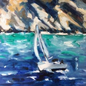 """Sailboat"" original fine art by Sonja Neumann"