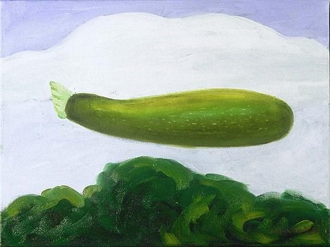 """Zucchini"" original fine art by Marie Lynch"