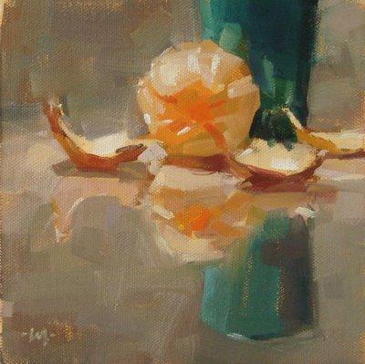 """Peeled"" original fine art by Carol Marine"